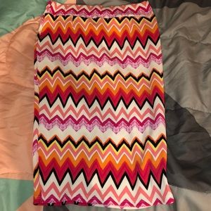 Women's bright pencil skirt